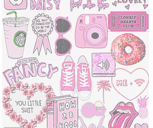 pink, girly, and starbucks image