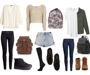 backpack, casual, and outfit image