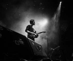 b&w, black and white, and concert image