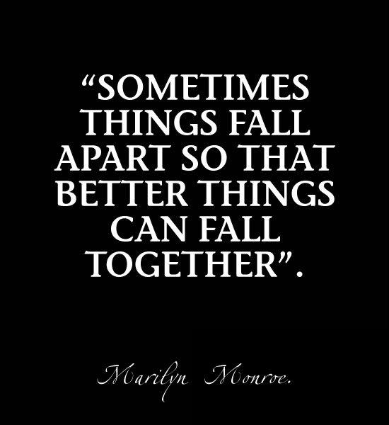 Sometimes things fall apart so