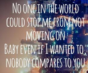 nobody compares, Lyrics, and one direction image