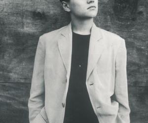 leonardo dicaprio, young, and black and white image