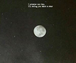 black and white, Lyrics, and moon image
