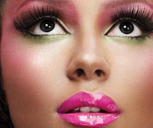 make up, pink, and makeup image