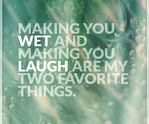 couple, laugh, and wet image