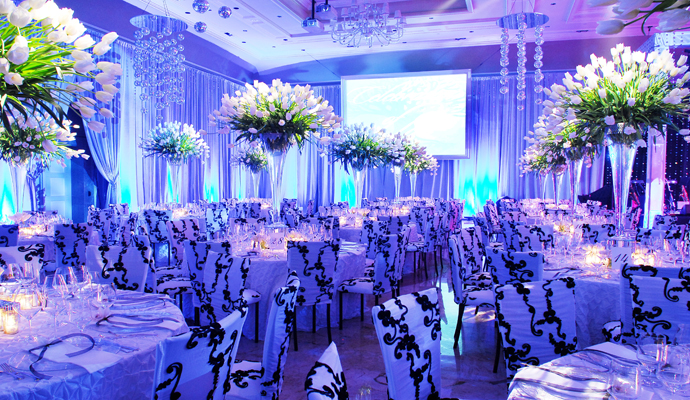Royal blue and orange wedding decors on we heart it junglespirit Choice Image
