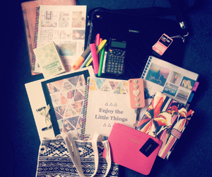 school, book, and girly image