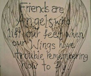 angels, life, and friendship image