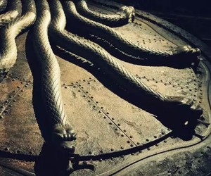 harry potter, snake, and chamber of secrets image