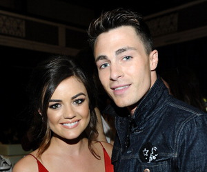 lucy hale and colton haynes image