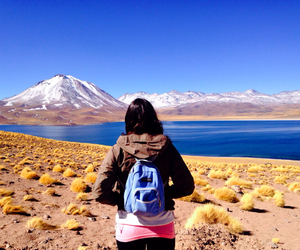 chile, volcan, and lake image