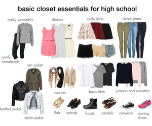 clothes, fashion, and high school image