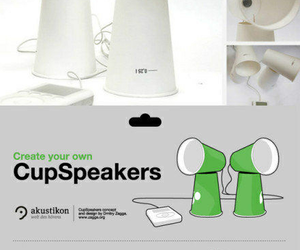 diy, speaker, and cup image