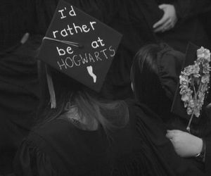 hogwarts, harry potter, and graduation image