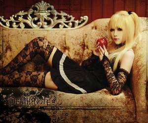 anime cosplay, blonde hair girl cosplay, and death note cosplay image