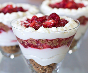 food, strawberry, and dessert image