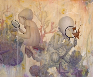 James Jean, pop surrealism, and magnifying glasses image