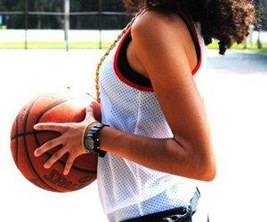 girl, Basketball, and swag image