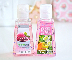 pink and bath and body works image
