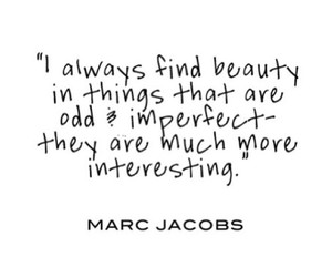 beauty, marc jacobs, and imperfect image