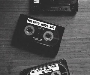 black&white, cassette, and therapy image