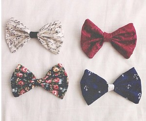 bow, red, and vintage image