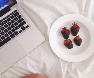 chocolate, food, and laptop image