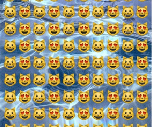 background, cats, and emoji image