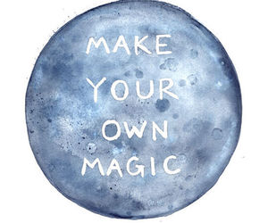 magic, quotes, and moon image
