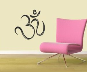 sticker, wall decal, and yoga image