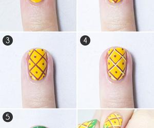 nails, pineapple, and nail art image