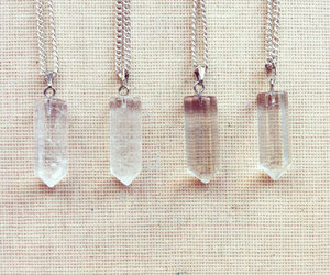 crystal necklace, delicate necklace, and gemstone necklace image