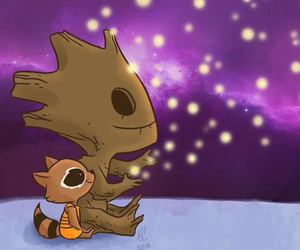 groot, rocket raccoon, and guardians of the galaxy image