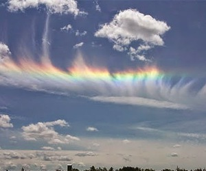 clouds, rainbow, and beautiful image