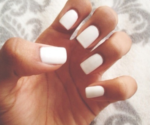 nails, white, and girly image