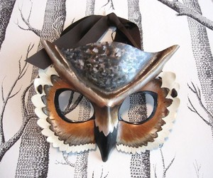 costume, mask, and owl image