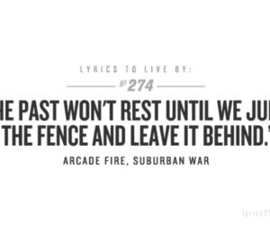 arcade fire, Lyrics, and suburban war image