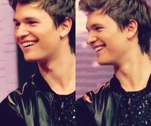 ansel elgort, smile, and tfios image