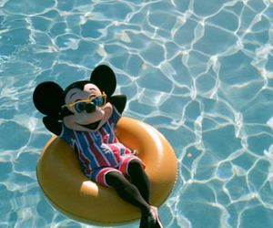 mickey, summer, and pool image