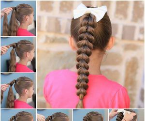 hairstyle, ponytail, and cutegirlhairstyles image