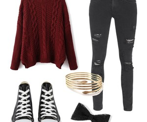 casual, converse, and Polyvore image