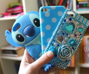 iphone, case, and stitch image