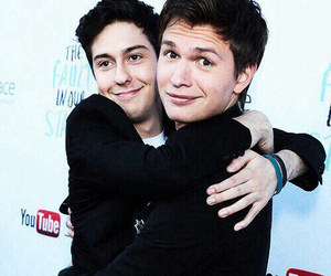 ansel elgort, tfios, and nat wolff image