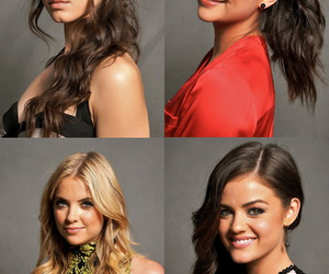 pretty little liars, girl, and lucy hale image