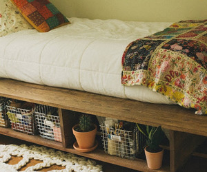bed and patchwork image