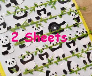 tare panda, cute icon, and korean sticker image