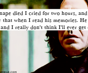 Died, severus snape, and love image