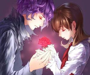 anime, rose, and ib image