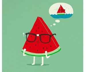 watermelon and drawing image