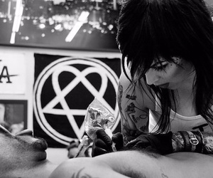 black and white, tattoo, and kate von d image